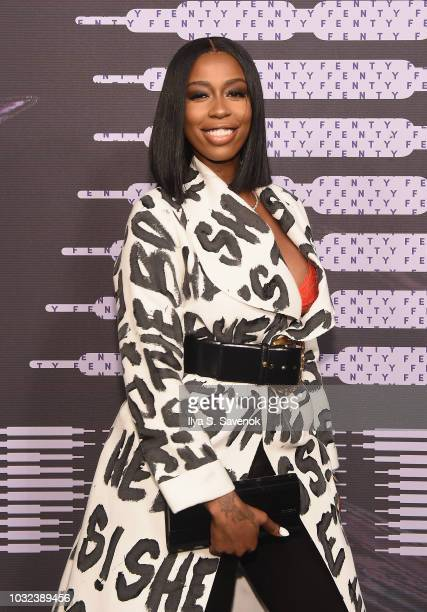Kash Doll arrives at the Savage X Fenty Fall/Winter 2018 fashion show during NYFW at the Brooklyn Navy Yard on September 12 2018 in Brooklyn NY