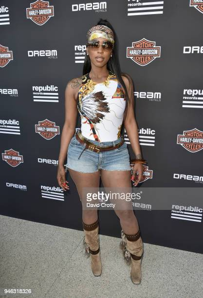 Kash Doll attends Republic Records and Dream Hotels Present The Estate at Zenyara on April 14 2018 in Coachella California