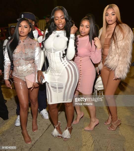 Kash Doll attends Trap Du Soleil Celebrating YFN Lucci on February 13 2018 in Atlanta Georgia