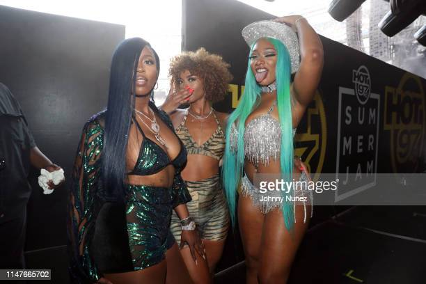 Kash Doll Melii and Megan Thee Stallion backstage at Summer Jam 2019 at MetLife Stadium on June 2 2019 in East Rutherford New Jersey
