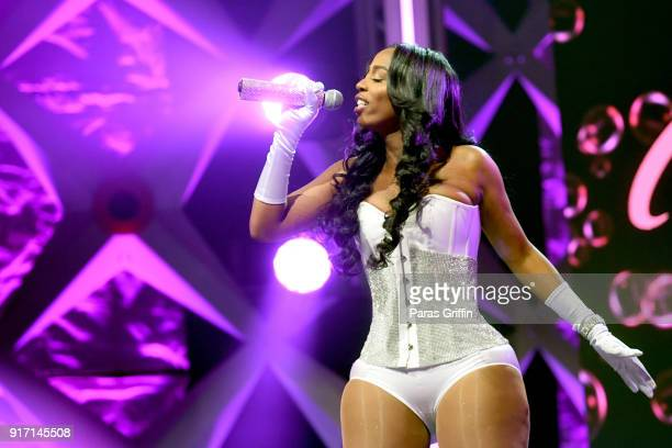 Kash Doll performs onstage during BET's Social Awards 2018 at Tyler Perry Studio on February 11 2018 in Atlanta Georgia