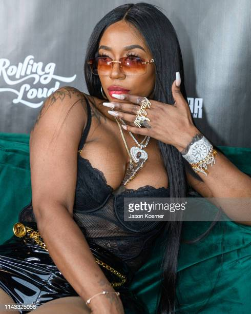 Kash Doll poses for a portrait during day two of Rolling Loud at Hard Rock Stadium on May 11 2019 in Miami Gardens FL