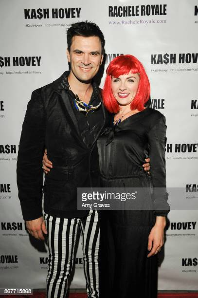 Kash Hovey and Chantelle Albers attends the Halloween Event Hosted by Kash Hovey and Rachele Royale at Velvet Margarita on October 28 2017 in...