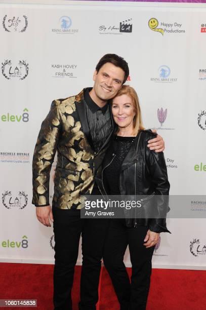 Kash Hovey and Michelle Beaulieu attend Kash Hovey Friends Presented By Film Fest LA Big House LA at Regal Cinemas LA LIVE Stadium 14 on November 10...