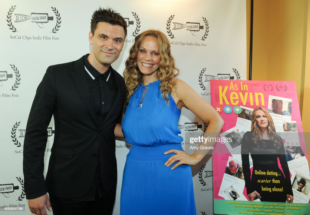 Kash Hovey and Summer Moore attend the Premiere Of 'As In Kevin' At Socal Clips Indie Film Fest on August 12, 2017 in Los Angeles, California.