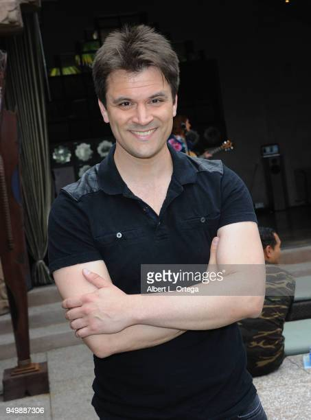 Kash Hovey arrives for Brand Bash Canine's And Cocktails To Benefit The Little Red Dog held at Sowden House on April 21 2018 in Los Angeles California