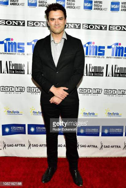 Kash Hovey attends the 14th Annual La Femme International Film Festival Award Ceremony at South Park Center on October 14 2018 in Los Angeles...