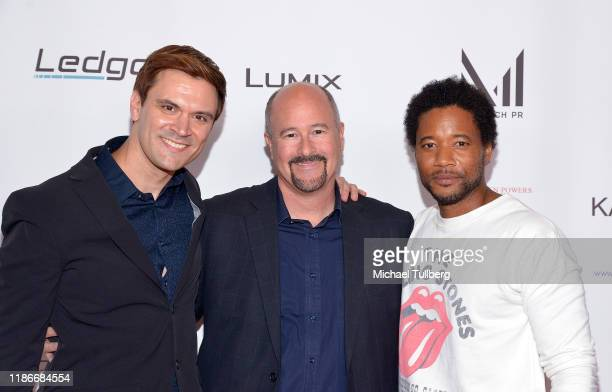 L R_ Kash Hovey Mitch Mallon and Rob Robinson attend the Kash Hovey and Friends Film Block at Film Fest LA at Regal Cinemas LA LIVE Stadium 14 on...