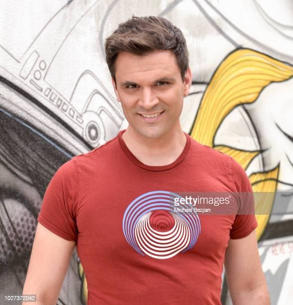 Kash Hovey poses with #YesOn3 at Hans Haveron Donates Reve Sauvage To Environmental Groups At TAP The Artists Project on September 5 2018 in Los...
