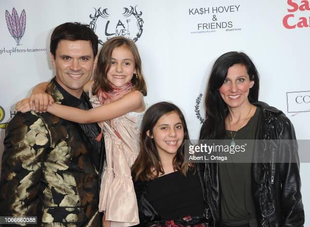 Kash Hovey Riley St John Scarlett St John and Nicole St John arrive for the Film Fest LA At LA Live Kash Hovey Friends held at Regal Cinemas LA LIVE...