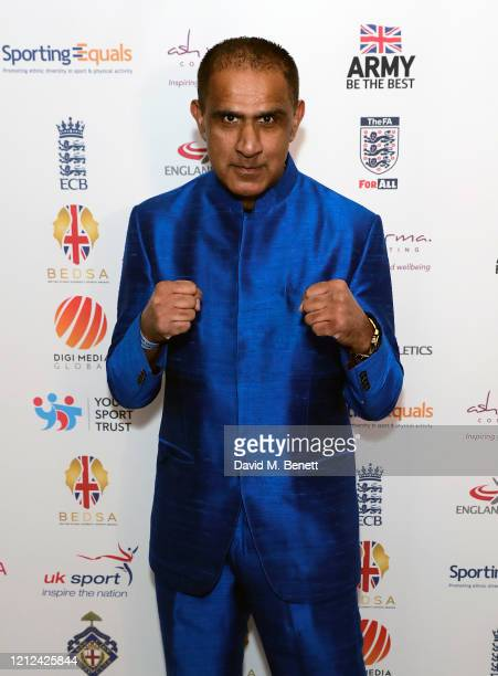 """Kash """"The Flash"""" Gill attends the British Ethnic Diversity Sports Awards 2020 at the Hilton Park Lane on March 14, 2020 in London, England."""
