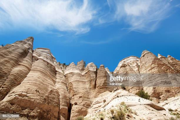 kasha-katuwe tent rocks national monument, new mexico - santa fe new mexico stock pictures, royalty-free photos & images