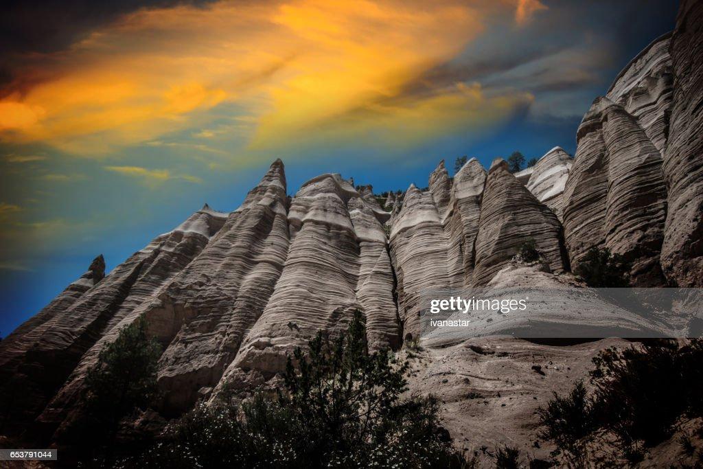 Kasha-Katuwe Tent Rocks National Monument, New Mexico : Stock Photo
