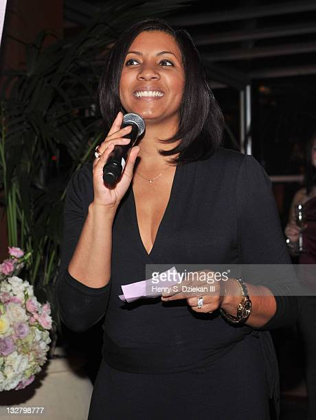 Kashia Holland attends PANDORA LovePods Rose Gold Launch Event at Empire Hotel Rooftop on November 11 2010 in New York City