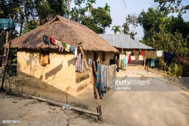 kashia tribal village - bangladesh nature stock photos and pictures