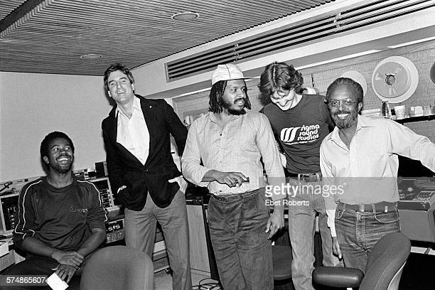 Kashif with James Mtume and Mtume's father Jimmy Heath at Sigma Sound Studios in New York City on November 4 1981