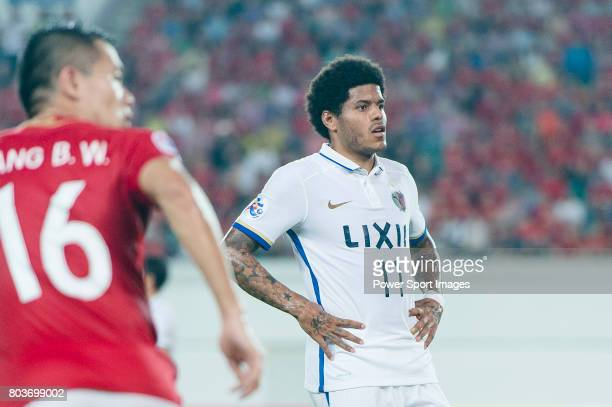 Kashima Midfielder Weverson Leandro Moura during the AFC Champions League 2017 Round of 16 match between Guangzhou Evergrande FC vs Kashima Antlers...