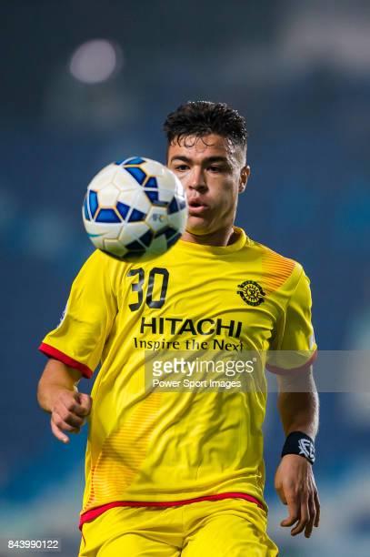 Kashiwa Reysol forward Cristiano Da Silva in action during the 2015 AFC Champions League Round of 16 1st Leg match between Suwon Samsung FC vs...