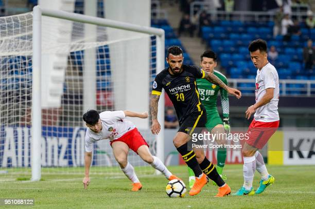 Kashiwa Reysol Forward Ramon Lopes in action during the AFC Champions League 2018 Group E match between Tianjin Quanjian FC and Kashiwa Reysol at...