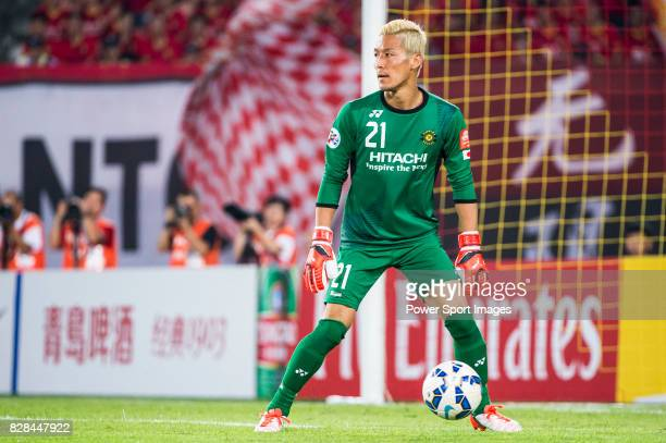 Kashiwa Reysol goalkeeper Sugeno Takanori in action during the Guangzhou Evergrande vs Kashiwa Reysol match as part the AFC Champions League 2015...
