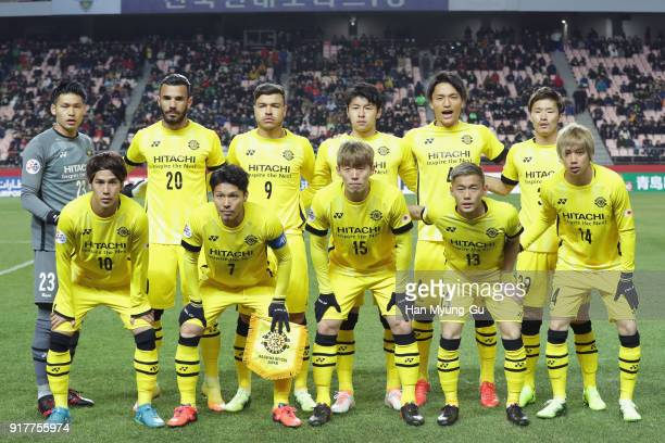 Kashiwa Reysol players line up for the team photos prior to the AFC Champions League Group E match between Jeonbuk Hyundai Motors and Kashiwa Reysol...
