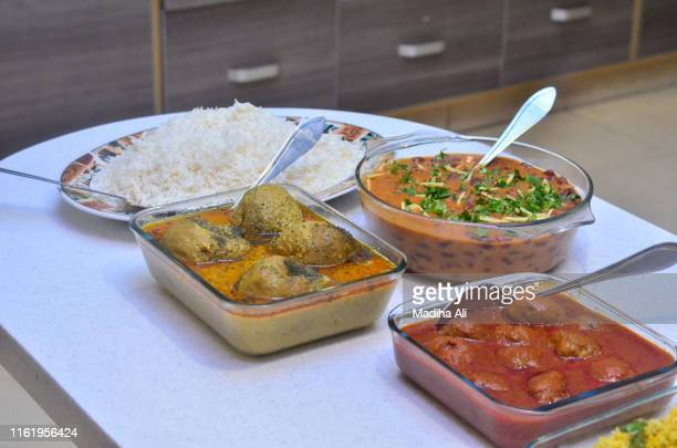 kashmir cuisine | desi food | indian food | spicy masala food - chicken tikka stock photos and pictures