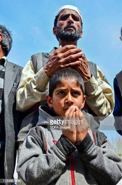 Kashmir Muslim young girl seen praying during the occasion ShabeMeraj the night when the Holy Prophet Muhammad ascended to the highest levels of...