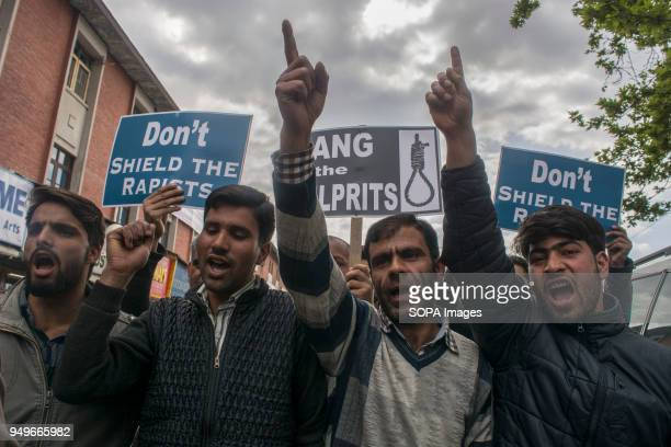 Kashmir Muslims seen shouting slogans during a protest in Srinagar the summer capital of Indian administered Kashmir Protesters staged protest today...