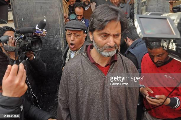 Kashmir pro freedom leader and Jammu Kashmir Liberation Front leader Muhammad Yasin Malik being arrested by police in Indian controlled Kashmir Malik...
