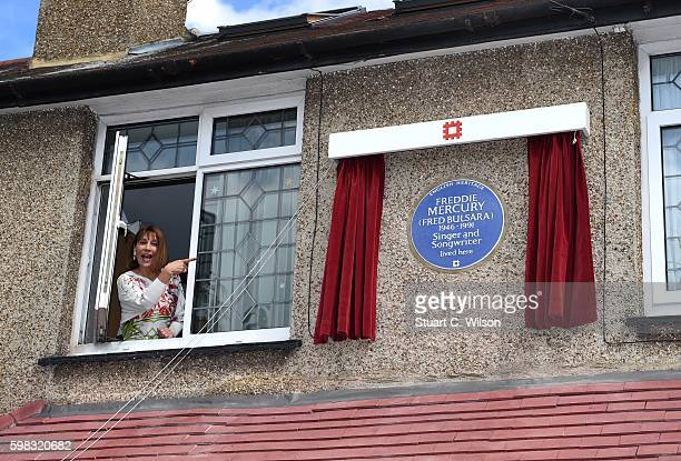 Kashmira Cooke attends the unveiling of an English Heritage Blue Plaque commemorating where Freddie Mercury lived on September 1 2016 in Feltham...