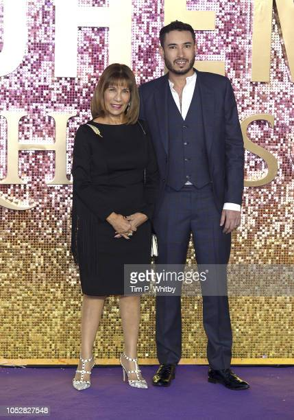 Kashmira Cooke sister of Freddie Mercury and her son Samuel attend the World Premiere of 'Bohemian Rhapsody' at The SSE Arena Wembley on October 23...