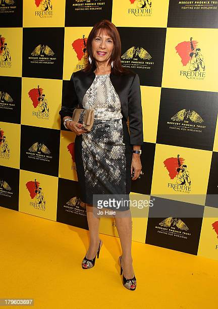 Kashmira Cooke sister of Freddie Mercury attends the Freddie for a Day charity event in aid of The Mercury Phoenix Trust at The Savoy Hotel on...