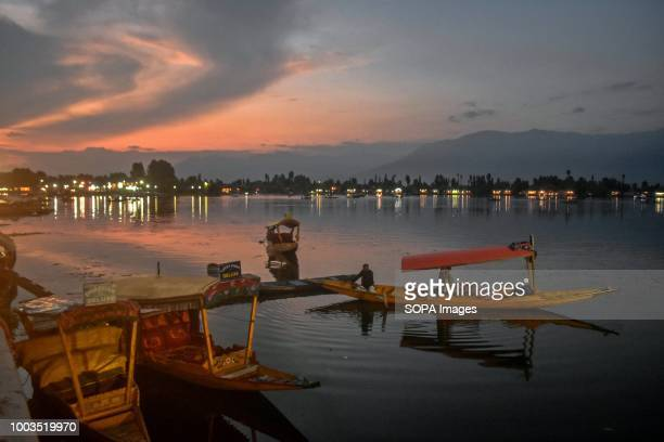 Kashmiri boatmen seen ferrying tourists in the lake Daily life on the waters of Dal Lake in Srinagar Indian administered Kashmir