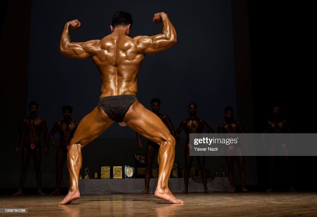 A Kashmiri Bodybuilder Strikes A Pose During Mr Kashmir Body News Photo Getty Images