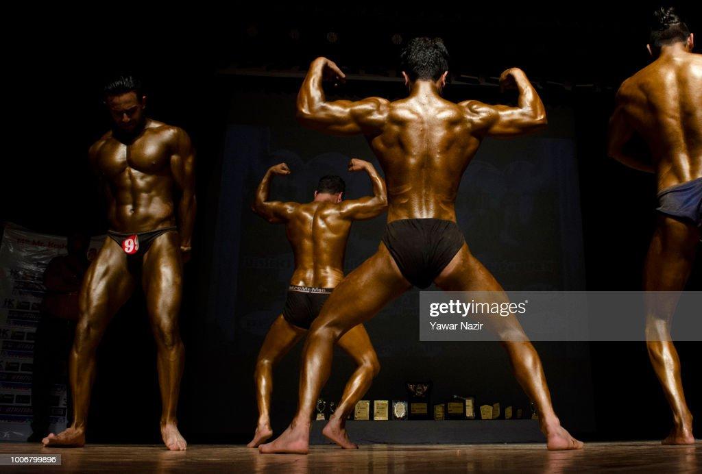 Kashmiri Bodybuilders Strike A Pose During Mr Kashmir Body Building News Photo Getty Images