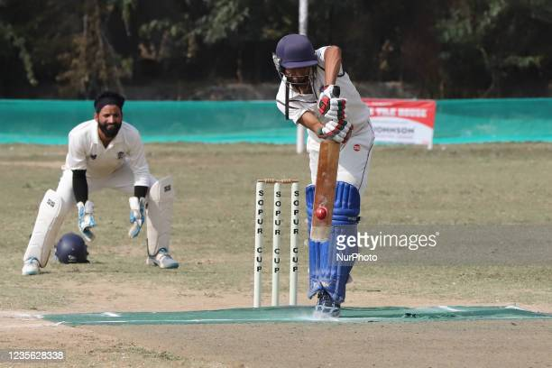 Kashmiri Boys play cricket during Sopur Cup 2021 in Sopore, District Baramulla, Jammu and Kashmir, India on 01 October 2021.