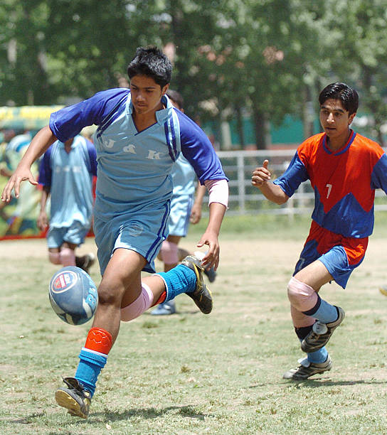 Kashmiri Boys Play Rugby During A Rugby... Pictures