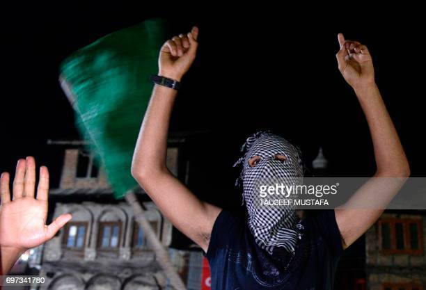 Kashmiri cricket fans celebrate after Pakistan's win in the International Cricket Championship Champions Trophy final cricket match against India on...
