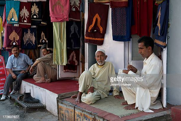 SRINAGAR KASHMIR JAMMU KASHMIR INDIA Kashmiri dress for sale at the bazar in Srinagar