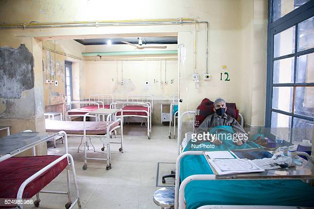 Kashmiri man and a patient of Tuberculosis is being treated at Kashmir's lone chest diseases hospital established by Christian missionaries over a...