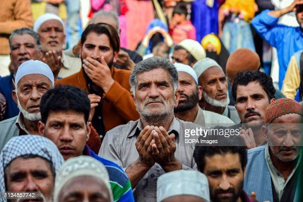 Kashmiri Muslim devotee seen praying during the occasion ShabeMeraj the night when the Holy Prophet Muhammad ascended to the highest levels of...