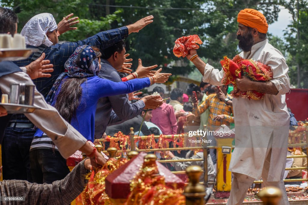 Hindu Devotees Visit Temple For Annual Kheer Bhawani Festival In Kashmir