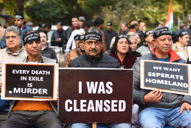 IND: Kashmiri Pandits Demonstrate To Mark The 30th Anniversary Of Their Mass Exodus From The Valley