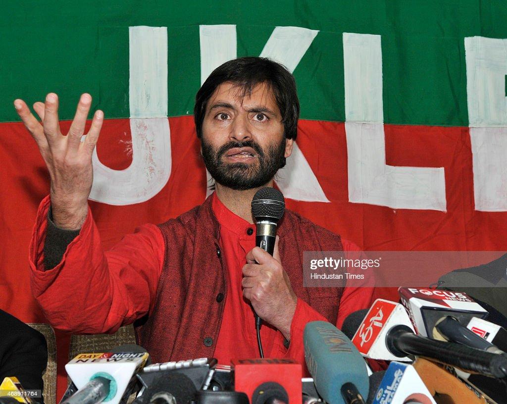 JKLF Chairman Yasin Malik Press Conference To Oppose Townships For Kashmiri Pandits
