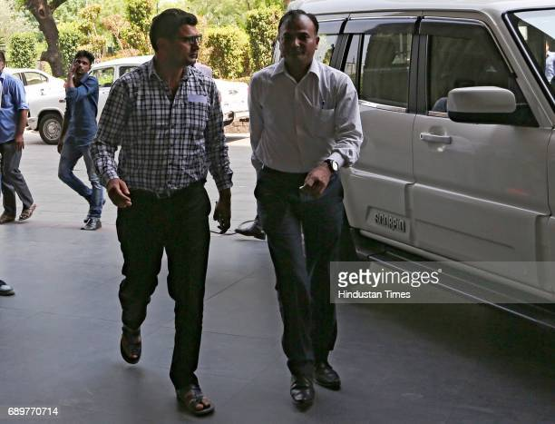 Kashmiri separatist leader Bitta Karate arrives at NIA headquarters on May 29 2017 in New Delhi India The NIA had summoned Kashmiri separatist...