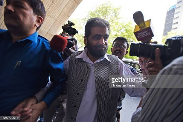 Kashmiri separatist leader Nayeem Khan arrives at NIA headquarters on May 29 2017 in New Delhi India The NIA had summoned Kashmiri separatist leaders...
