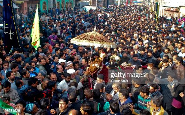 Non Muslim Perspective On The Revolution Of Imam Hussain: Kashmiri Shiite Muslims Participate In An Ashura