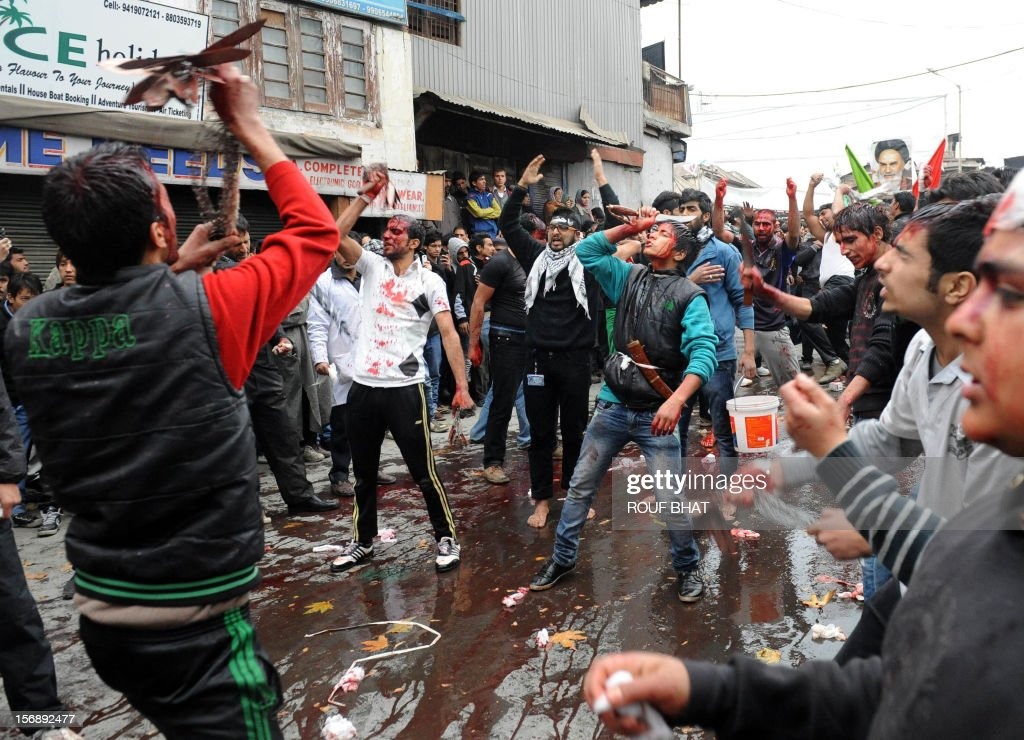 Kashmiri Shiite Muslims Perform Acts Of Self-flagellation
