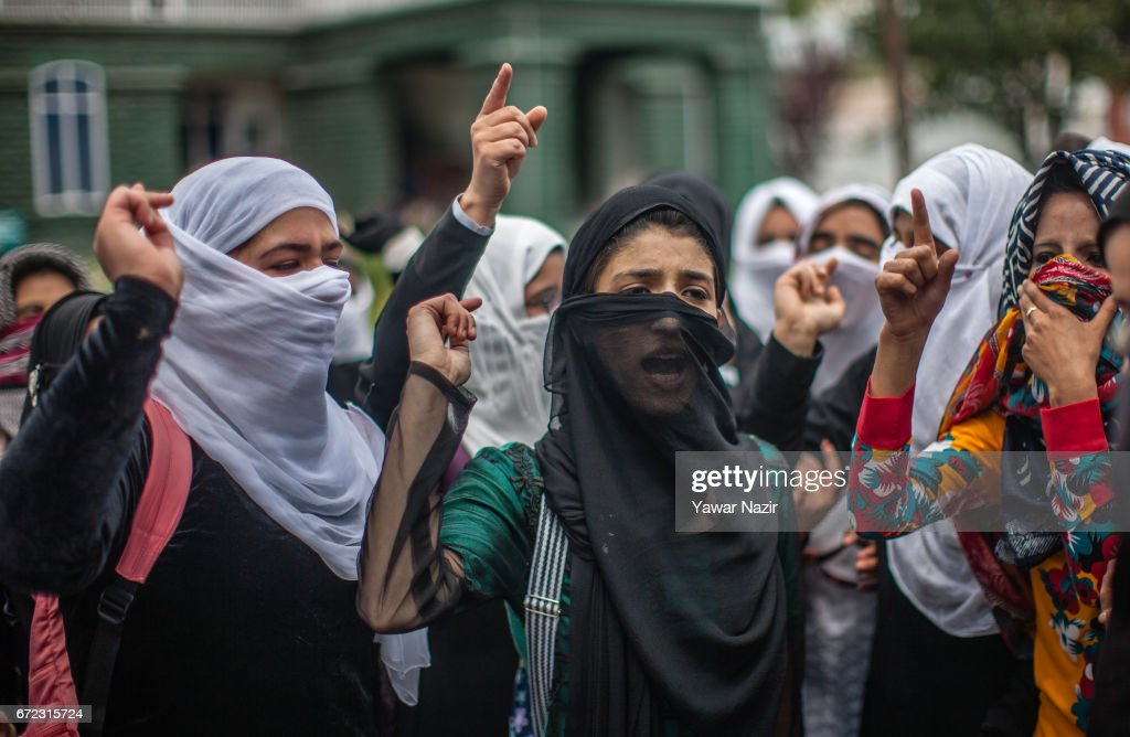 Indian Government Forces Clash With Students In Kashmir : News Photo