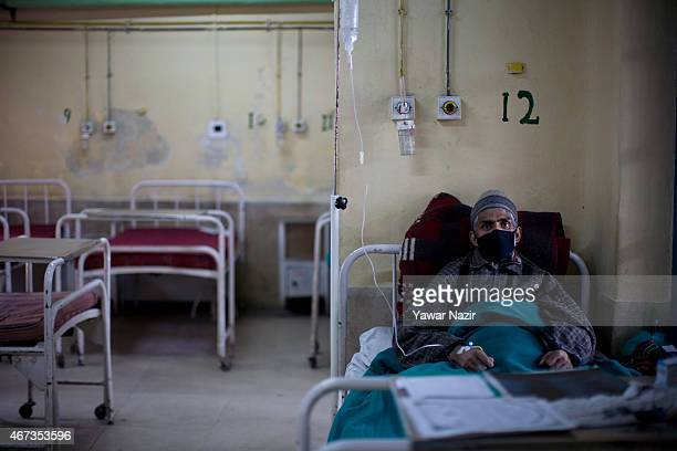 Kashmiri Tuberculosis patient is treated at Kashmir's lone chest diseases hospital on March 23 2015 in Srinagar the summer capital of Indian...